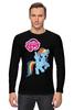 """Лонгслив """"my little pony"""" - радуга, my little pony, пони, аниме, для детей"""