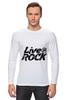 """Лонгслив """"LiveInRock"""" - рок, rock"""