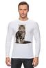 """Лонгслив """"Милый пушистый кот     """" - кот, кошка, котэ, алина макарова, мэйн кун"""
