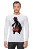 """Лонгслив """"Медведь с магнитофоном"""" - bear, медведь, магнитофон"""