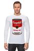 """Лонгслив """"Campbell's Soup (Энди Уорхол)"""" - поп арт, энди уорхол, pop art, andy warhol, campbell's soup"""