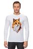 """Лонгслив """"Poly Fox"""" - fox, лиса, полигоны"""