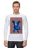 "Лонгслив ""Синий Пес"" - сердце, dog, пес, собака, blue dog"