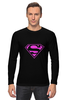 "Лонгслив ""SuperMan EMO sweatshirt"" - superman, pink, эмо, e-one, emotion"