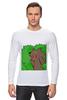 """Лонгслив """"Медведь из кустов"""" - медведь, распутница, медведь из кустов, блудница"""