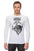 "Лонгслив ""Stiletto fox"" - нож, fox, лиса, animal, животное, knives, ножы, стилет, knife, stylet"