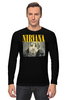 "Лонгслив ""Nirvana"" - гранж, nirvana, kurt cobain, курт кобейн, нирвана"