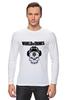 "Лонгслив ""Skull WOT "" - skull, череп, games, игры, игра, game, логотип, world of tanks, танки, wot"