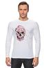 """Лонгслив """"Цветочный Череп"""" - skull, для девушек, цветы, черепа"""