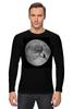 """Лонгслив """"Лунная ночь"""" - кот, cat, moon, лунная ночь, полнолуние"""