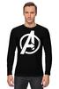 """Лонгслив """"Мстители (The Avengers)"""" - hulk, marvel, мстители, железный человек, iron man, халк, the avengers"""