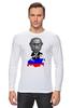 "Лонгслив ""Putin"" - россия, russia, путин, президент, putin"