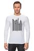 "Лонгслив ""Сити-код"" - арт, город, дизайн, city, код, barcode, урбанизм"