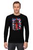 "Лонгслив ""10th флаг UK (Доктор Кто)"" - doctor who, bbc, флаг, uk, доктор кто, тардис"