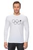 """Лонгслив """"нераскрывшееся олимпийское кольцо"""" - олимпиада, 2014, сочи, олимпийские кольца, нераскрывшееся олимпийское кольцо"""
