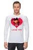 """Лонгслив """"LOVE YOU"""" - арт, я люблю, love you, обними меня, футболки для пар"""