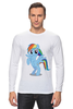 "Лонгслив ""Rainbow Dash"" - pony, mlp, rainbow"