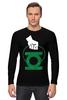 """Лонгслив """"Green Lantern """" - арт, green, dc, lantern, green lantern, dc comics, зелёный фонарь"""