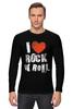 "Лонгслив ""i love rocknroll"" - рок, i love, rock"