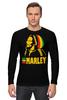 """Лонгслив """"Боб Марлей (Bob Marley)"""" - регги, боб марли, bob marley, ska, jamaica"""