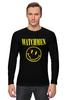 """Лонгслив """"Watchmen x Nirvana"""" - смайл, nirvana, smile, хранители, watchmen"""