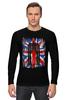 "Лонгслив ""10th флаг UK (Доктор Кто)"" - doctor who, bbc, флаг, uk, доктор кто"