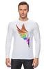 """Лонгслив """"Mozart L`opera Rock """" - арт, авторские майки, wings, рисунок, color"""