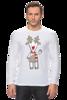 """Лонгслив """"Новогодняя фуфайка"""" - красивая, new year, white and snow-white, сказочная, christmas, reindeer"""