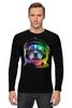 """Лонгслив """"Собака Космонавт"""" - космос, собака, абстракция, галактика, космонавт"""