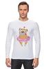 """Лонгслив """"Мопс в юбке"""" - сердце, pug, гламур, собачки, мопс"""