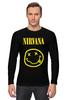 "Лонгслив ""Nirvana "" - nirvana, рок, kurt cobain, курт кобейн, нирвана"