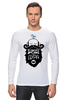 """Лонгслив """"Мужская футболка с принтом от idiotstile"""" - борода, усы, beard, бородачи, отпускаем бороду, усачи, borodachi, mustaches, beardart, beard4fun"""