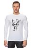 "Лонгслив ""dear deer"" - графика, олень, deer, tseart"
