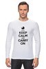 "Лонгслив ""Keep calm & Carry on"" - 8 марта, baby, маме, мама, keep calm"