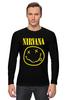 "Лонгслив ""Nirvana (Нирвана)"" - grunge, гранж, nirvana, нирвана"