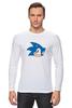 "Лонгслив ""Sonic hedgehog head"" - nintendo, sonic, sega, сега, соник ёж, ёжик соник, video games"