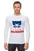 "Лонгслив ""Russia team"" - русский, россия, russia, путин"