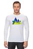 """Лонгслив """"Весна в горах"""" - орнамент, акварель, паттерн, треугольники, треугольный"""