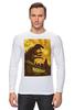 "Лонгслив ""Godzilla yellow"" - фильмы, динозавр, годзилла, godzilla, фатастика"