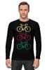 """Лонгслив """"Велосипеды"""" - спорт, велосипед, велоспорт"""