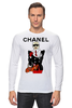 "Лонгслив ""Chanel"" - прикол, юмор, духи, бренд, fashion, коко шанель, brand, coco chanel, шанель, perfume"