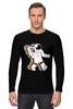 "Лонгслив ""Музыкальный астронафт"" - музыка, арт, music, плеер, рисунок, космос, astronaut, радио, radio, астронафт"