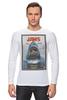 "Лонгслив ""Jaws / Челюсти"" - челюсти, акула, афиша, kinoart, jaws"