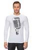 "Лонгслив ""Микрофон"" - музыка, микрофон, хип хоп, реп, джаз, mic"
