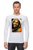 """Лонгслив """"Боб Марлей (Bob Marley)"""" - регги, боб марли, bob marley, ska"""