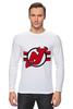 """Лонгслив """"Нью-Джерси Девилс"""" - хоккей, nhl, нхл, нью-джерси девилс, new jersey devils"""