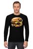 """Лонгслив """"Мопс Бургер"""" - еда, pug, собака, мопс, бургер"""