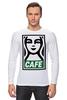 "Лонгслив ""Starbucks (Obey)"" - кофе, obey, starbucks, старбакс, cafe"