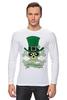 """Лонгслив """"Настоящий Ирландец (100% Irish)"""" - череп, клевер, патрик, лепрекон, настоящий ирландец"""