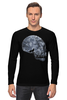 "Лонгслив ""Лунный Череп"" - skull, череп, луна, волк"